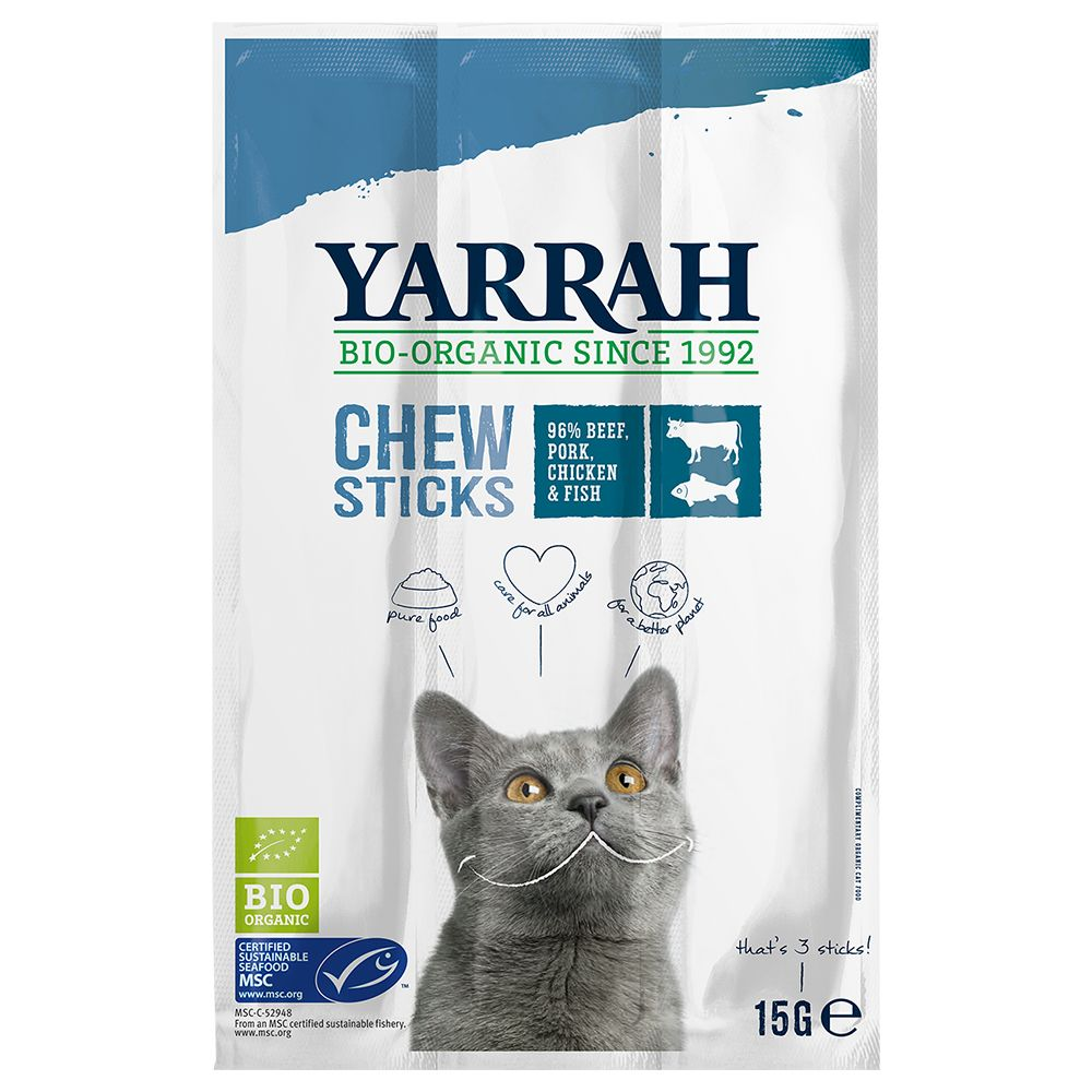 Yarrah Organic Chew Sticks - 9 x 5 g