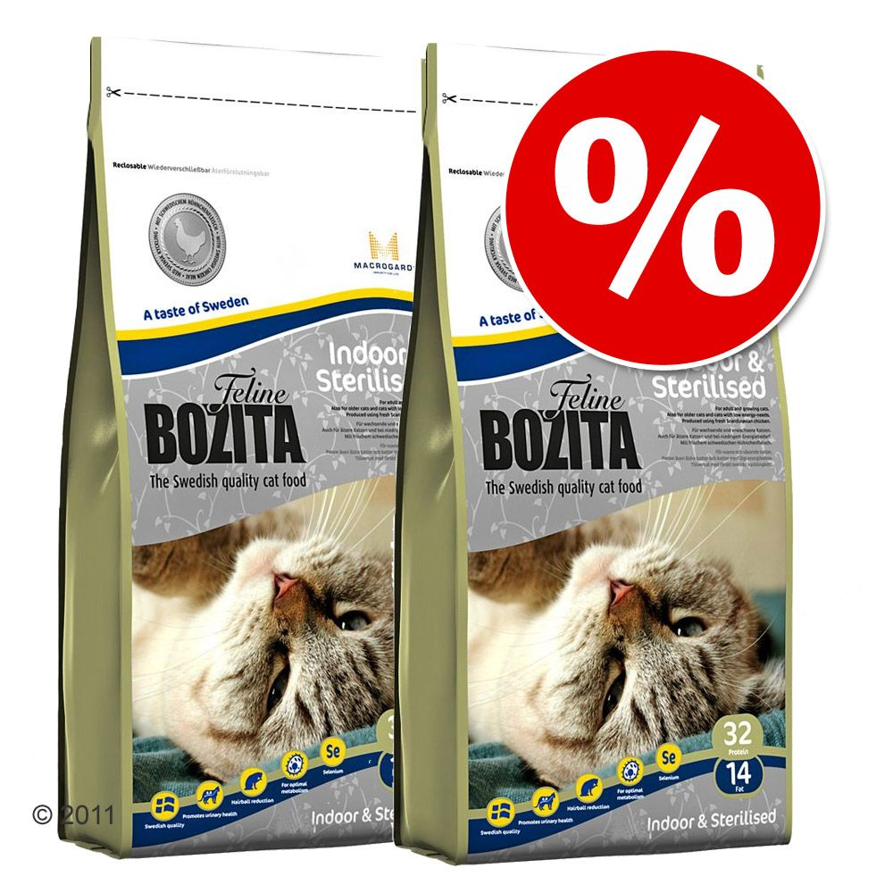 Foto 2 x 10 kg Bozita Feline - Diet & Stomach - Sensitive Set risparmio Bozita