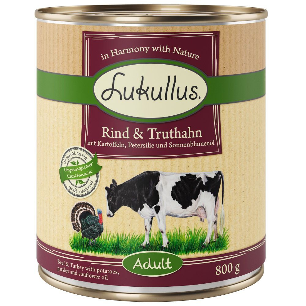 Turkey & Beef Lukullus Wet Dog Food
