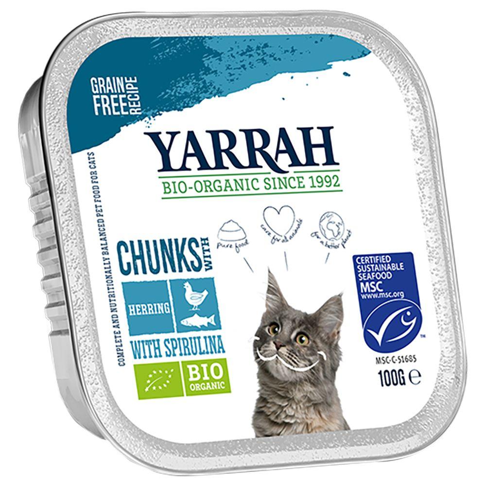 Yarrah Organic Chunks in Sauce 6 x 100 g - Kyckling & nötkött med persilja & timjan