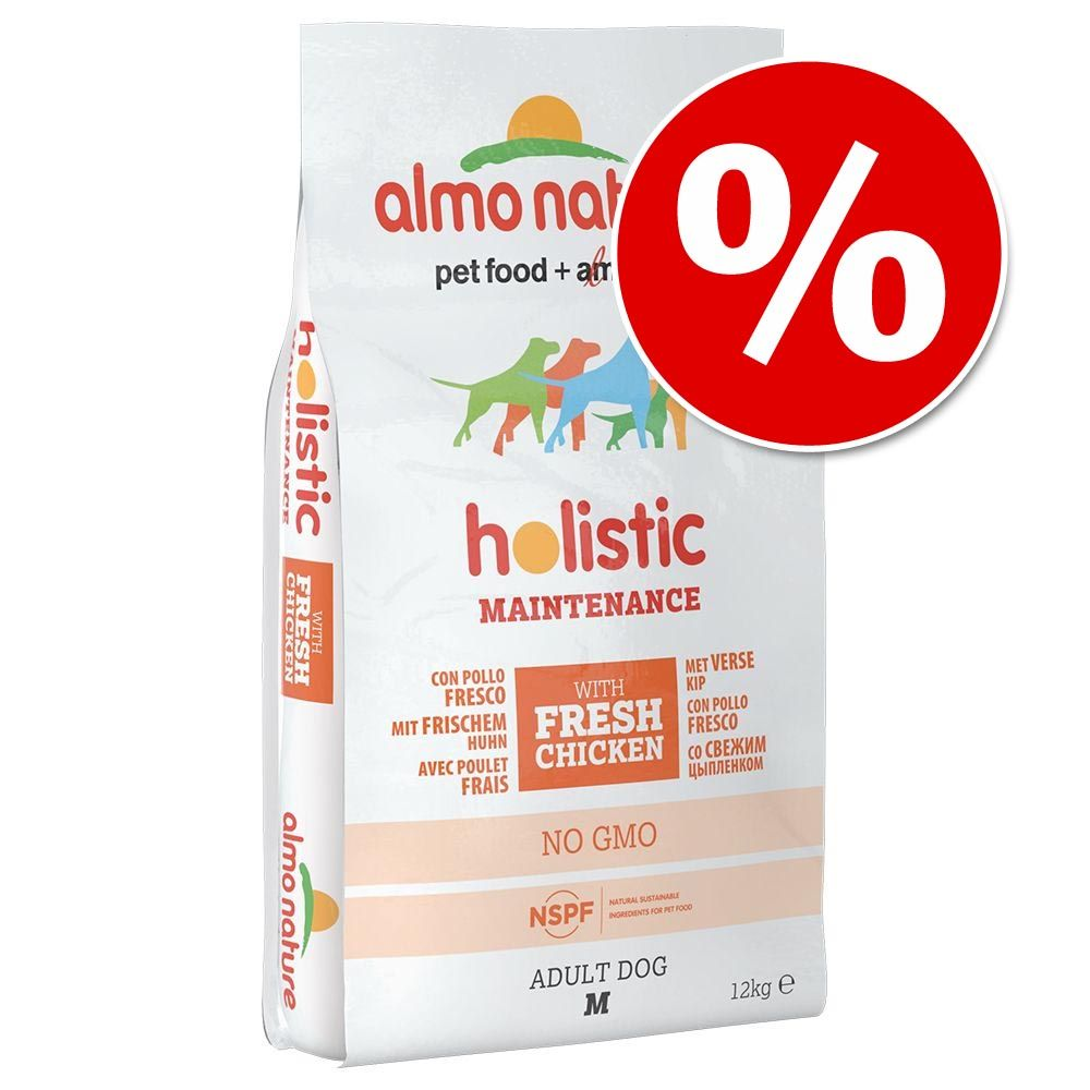 Foto Prezzo speciale! 12 kg Almo Nature Holistic - Medium Puppy Pollo & Riso