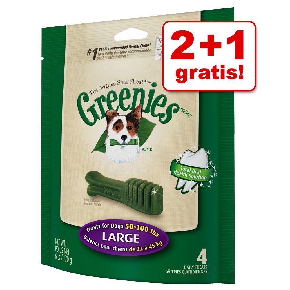 2 + 1 på köpet! 3 x 170 g / 340 g Greenies tandvårdsgodis - Large (3 x 170 g)