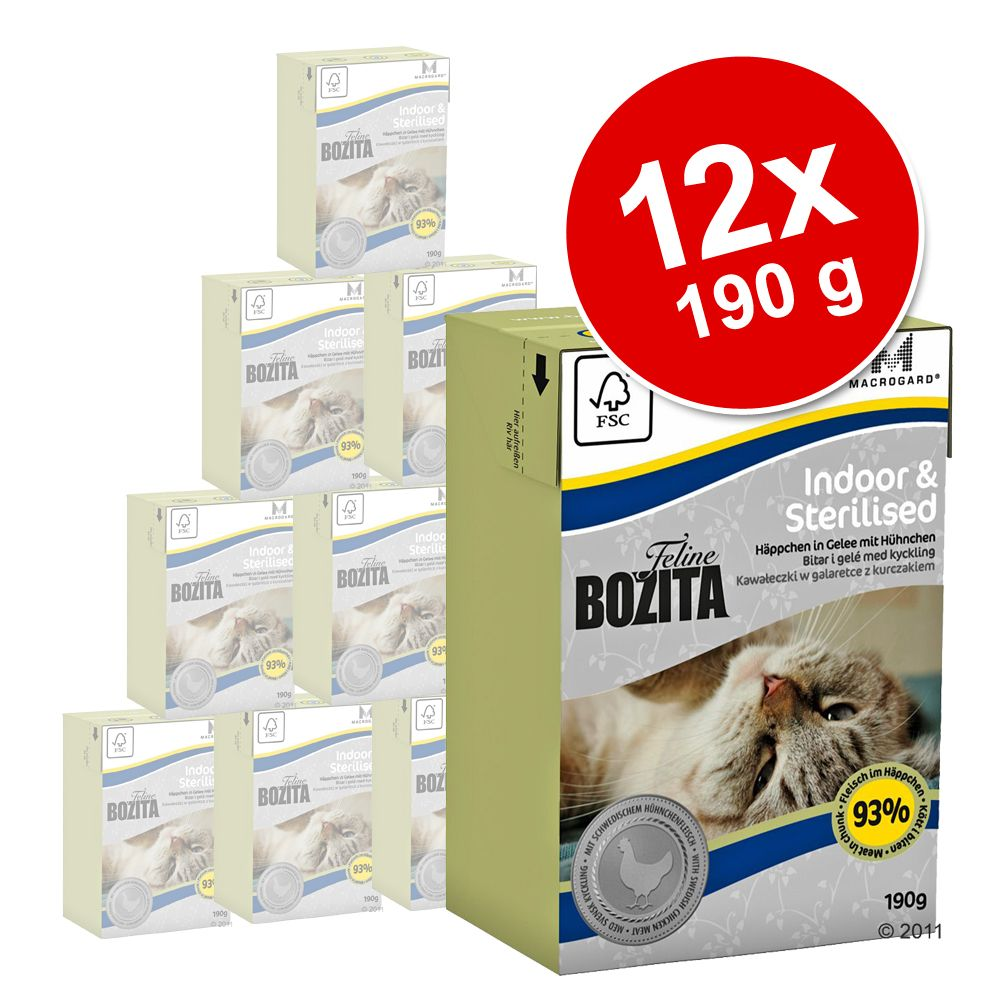 Sparpaket Bozita Feline Tetra Recart 12 x 190 g - Hair & Skin - Sensitive