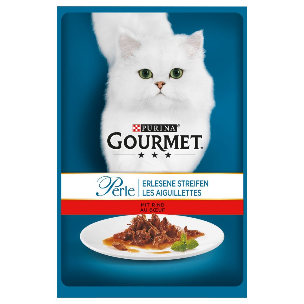 24x85g Beef Fillets Saver Pack Gourmet Perle Wet Cat Food