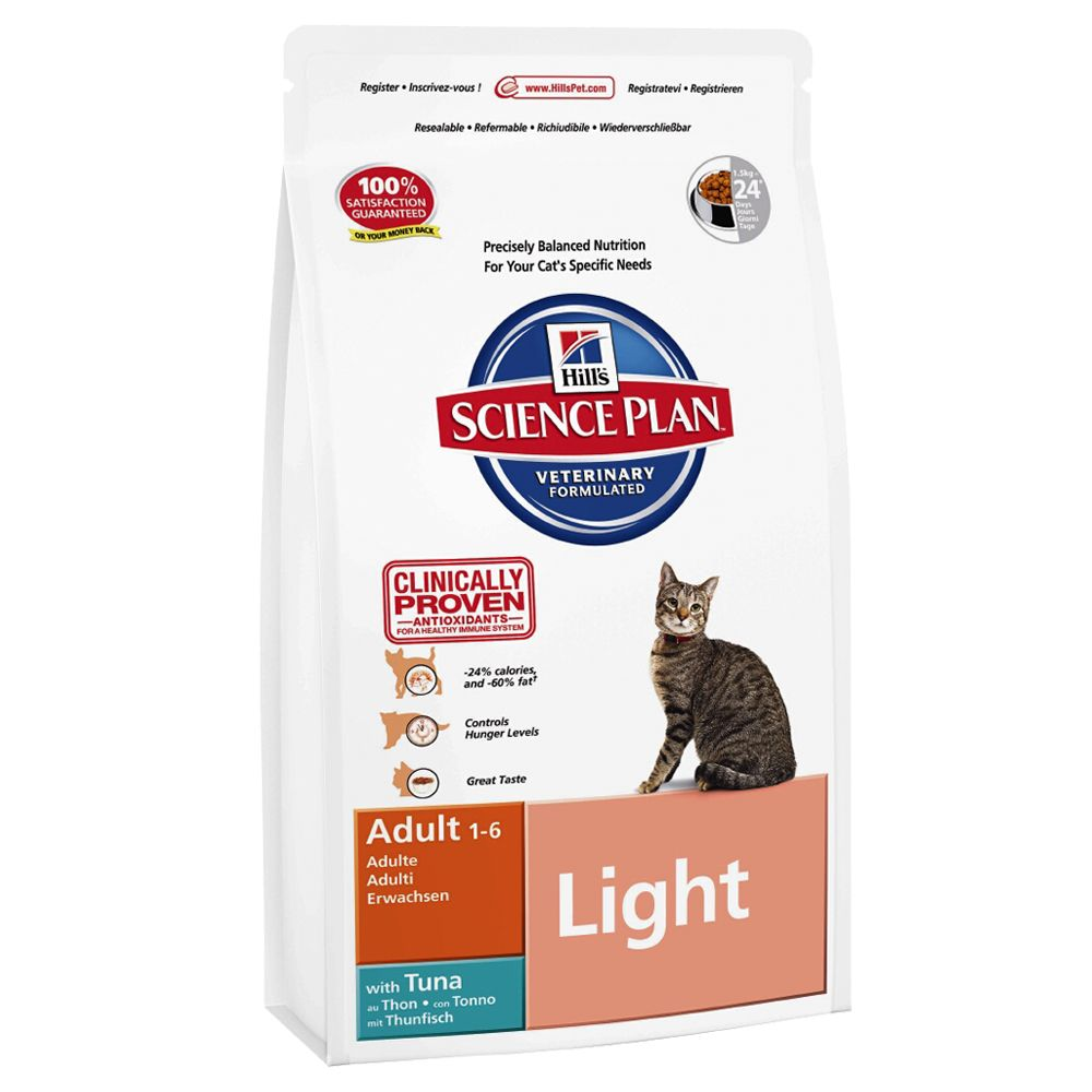 Hill's Science Plan Adult Cat Light - Tuna - Economy Pack: 2 x 5kg