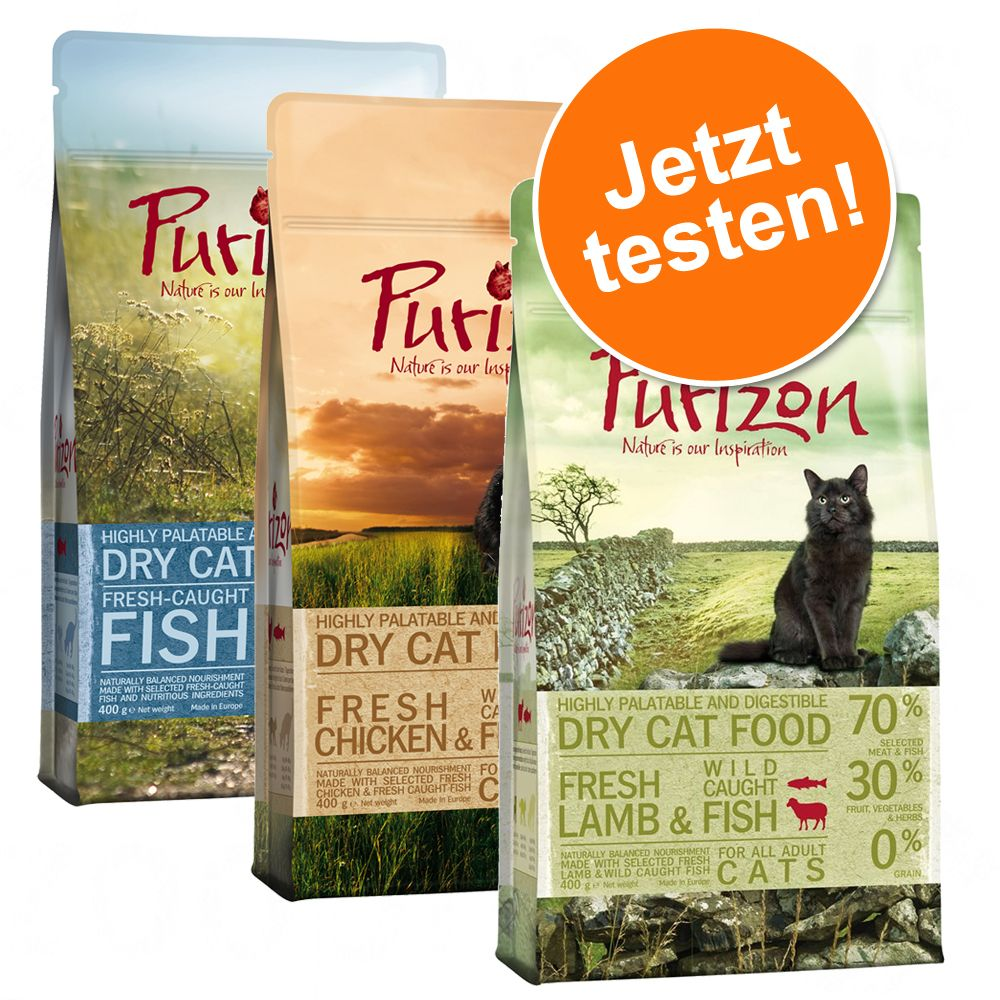 Gemischtes Paket Purizon Katzentrockennahrung -...