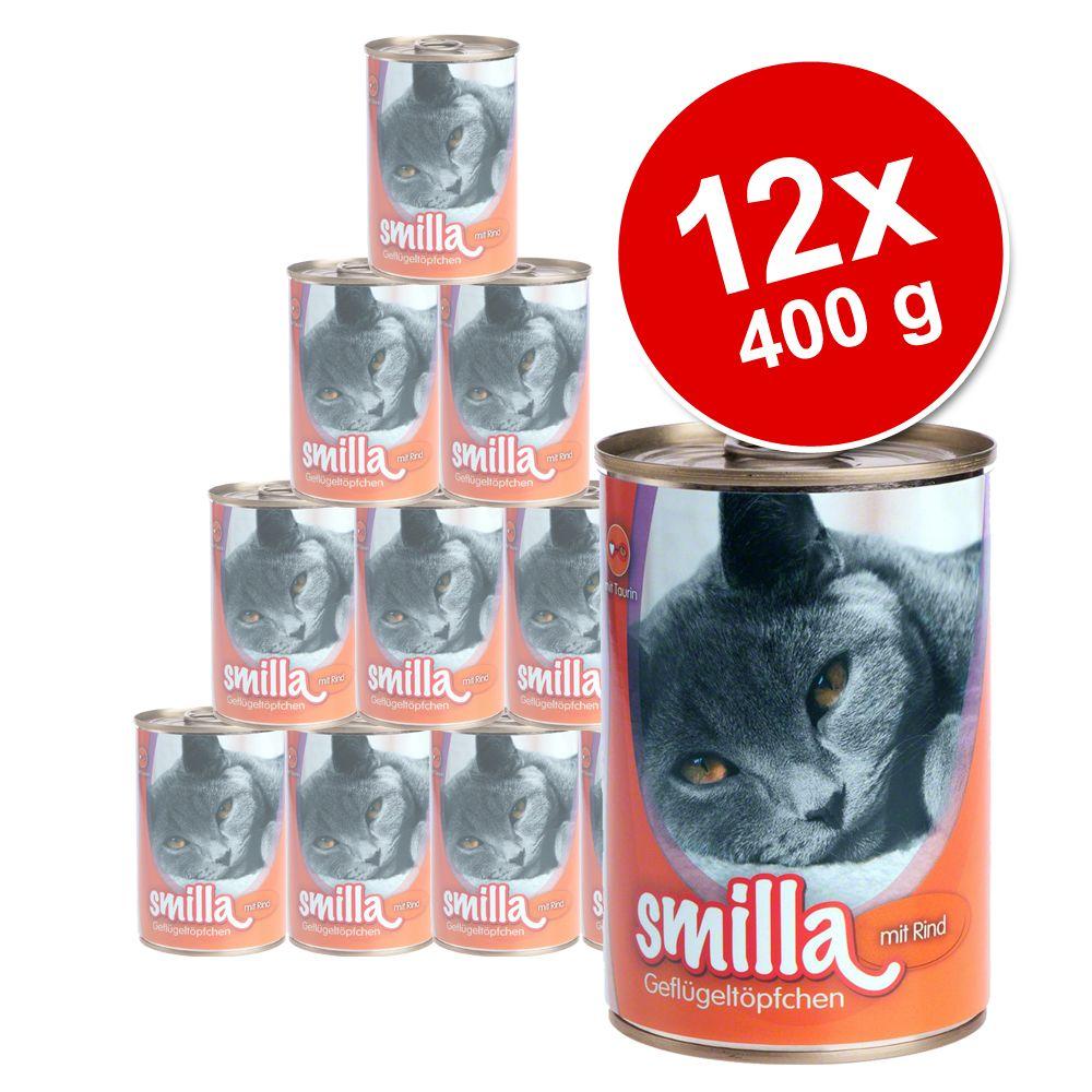 Korzystny pakiet Smilla Puszki z drobiem i z rybą, 12 x 400g - Delikatny drób z jagnięciną