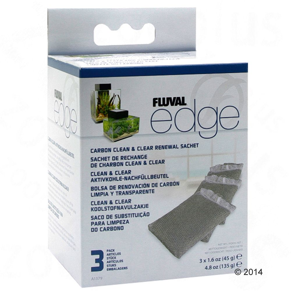 Fluval Edge Carbon Clean and Clear 3 Sachets - 1 st