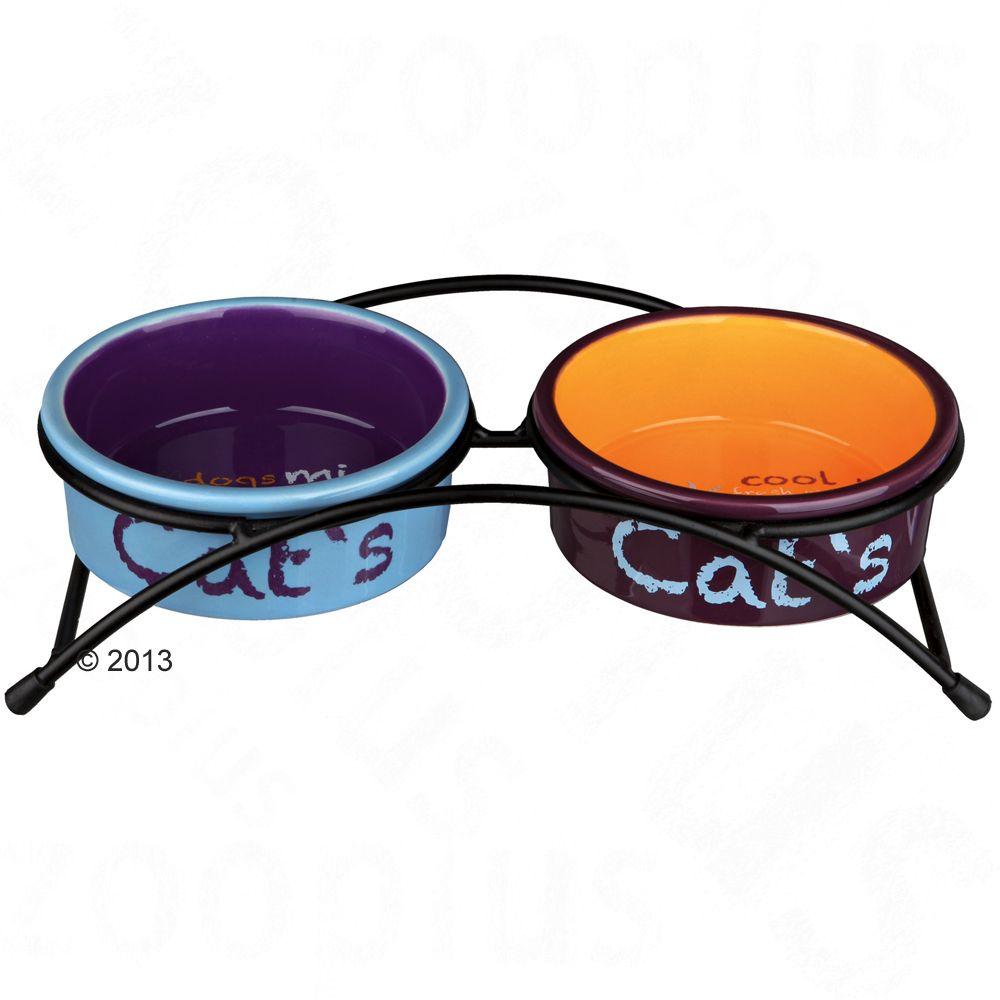 Trixie Keramik-Napf-Set Eat on Feet - 2 x 300 ml