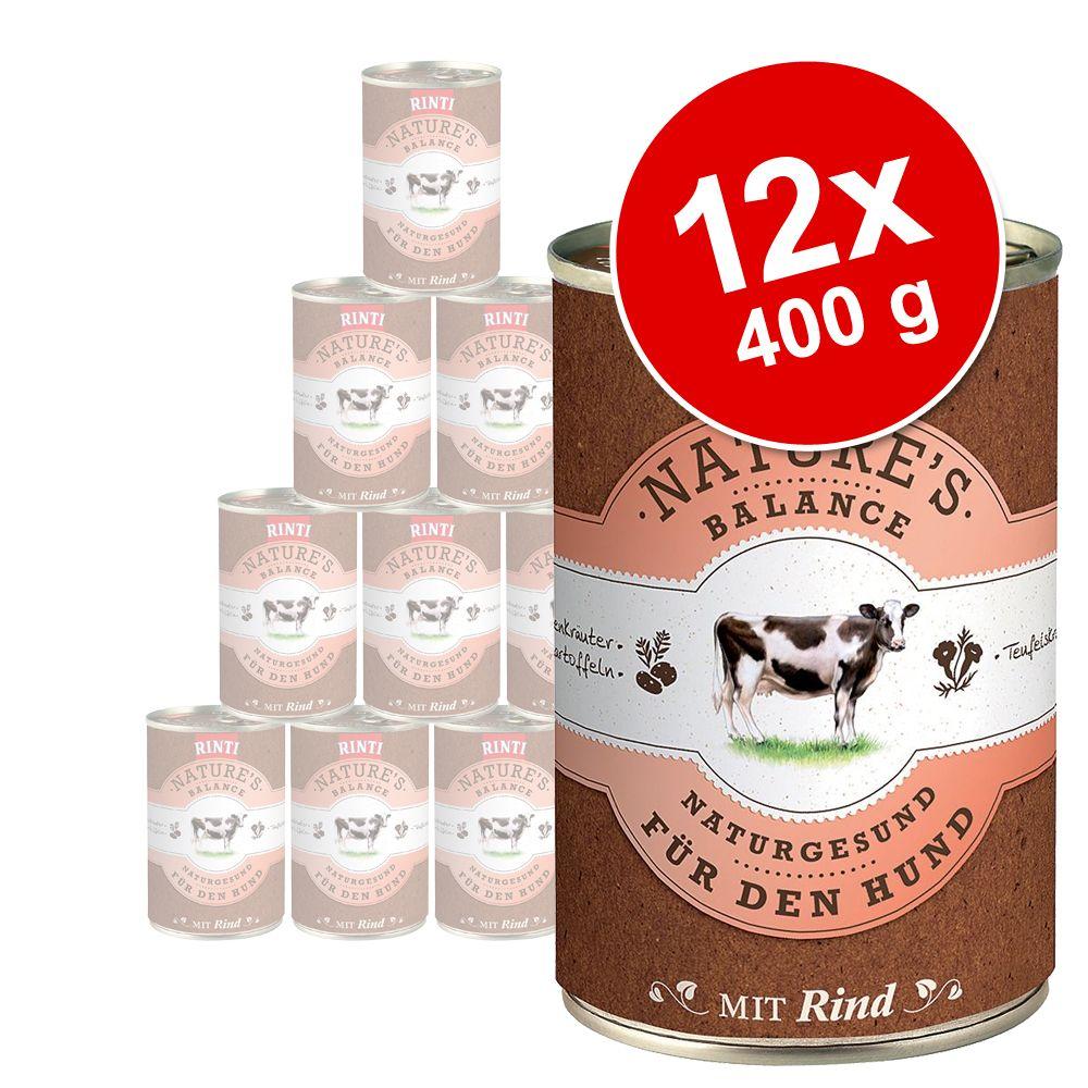 Korzystny pakiet Rinti Nature´s Balance, 12 x 400 g - Kurczak, ryż i świeże jajko