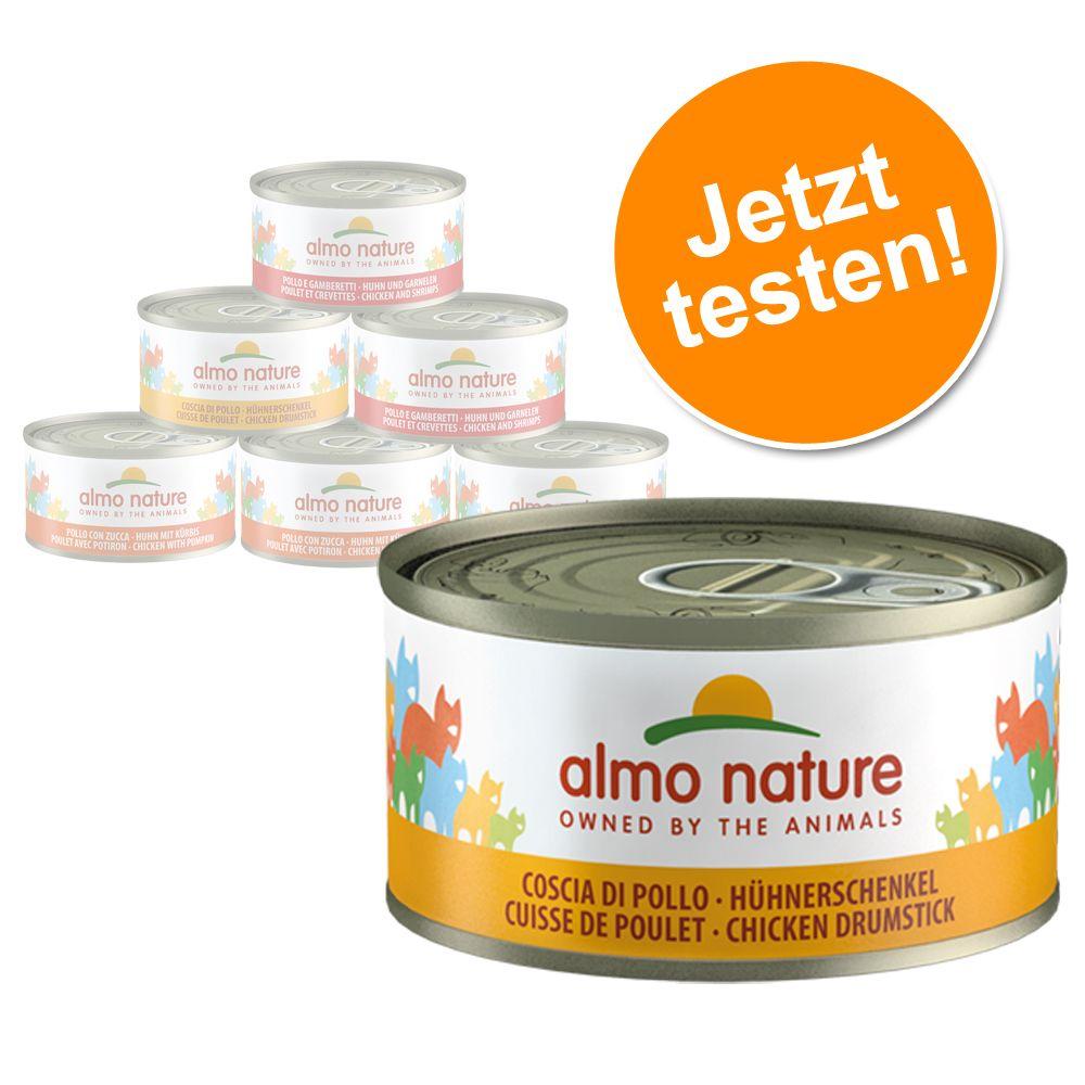 Image of 6 x 70 g Almo Nature Probierpaket - Mix Huhn (3 Sorten)
