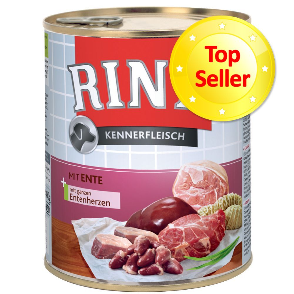 12 x 800 g Rinti Kennerfleisch Ente