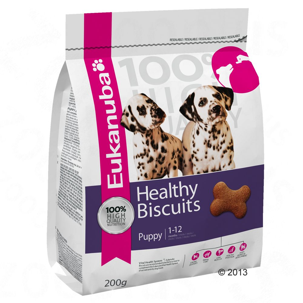 Eukanuba Healthy Biscuits Puppy & Junior - 3 x 200 g