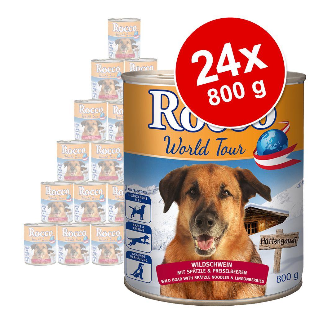 Lot économique Rocco Tour du monde, Autriche, 24 x 800 g - sanglier, spätzle, airelles