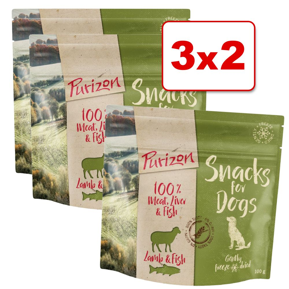 Purizon snacks para perros 3 x 100 g en oferta: 2 + 1 ¡gratis! - Pollo y pescado