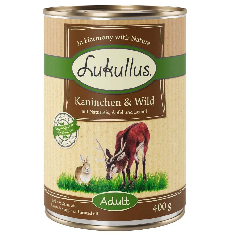 Rabbit & Game Lukullus Wet Dog Food