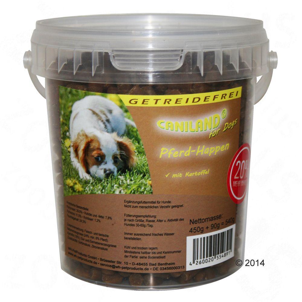 Caniland Soft Friandises au cheval pour chien - 2 x 540 g
