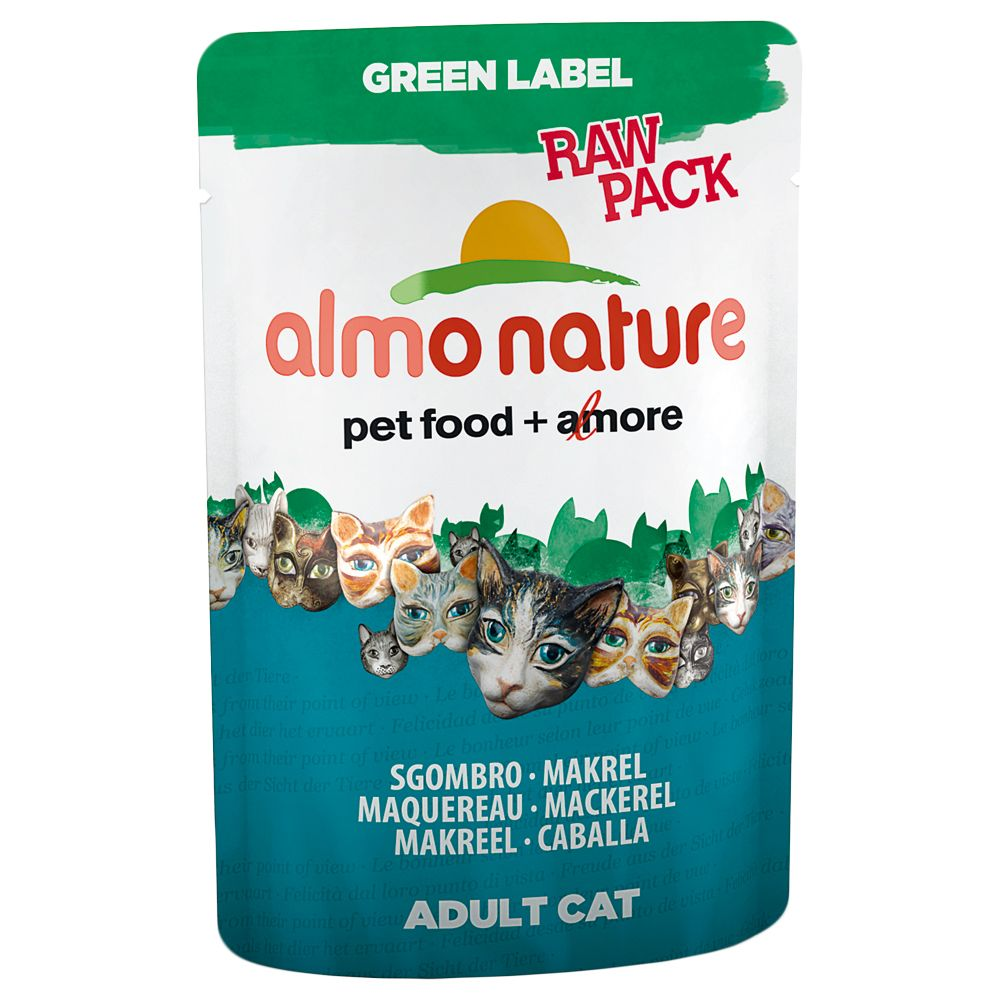Almo Nature Green Label Raw Pack Pouches 12 x 55g - Chicken Breast