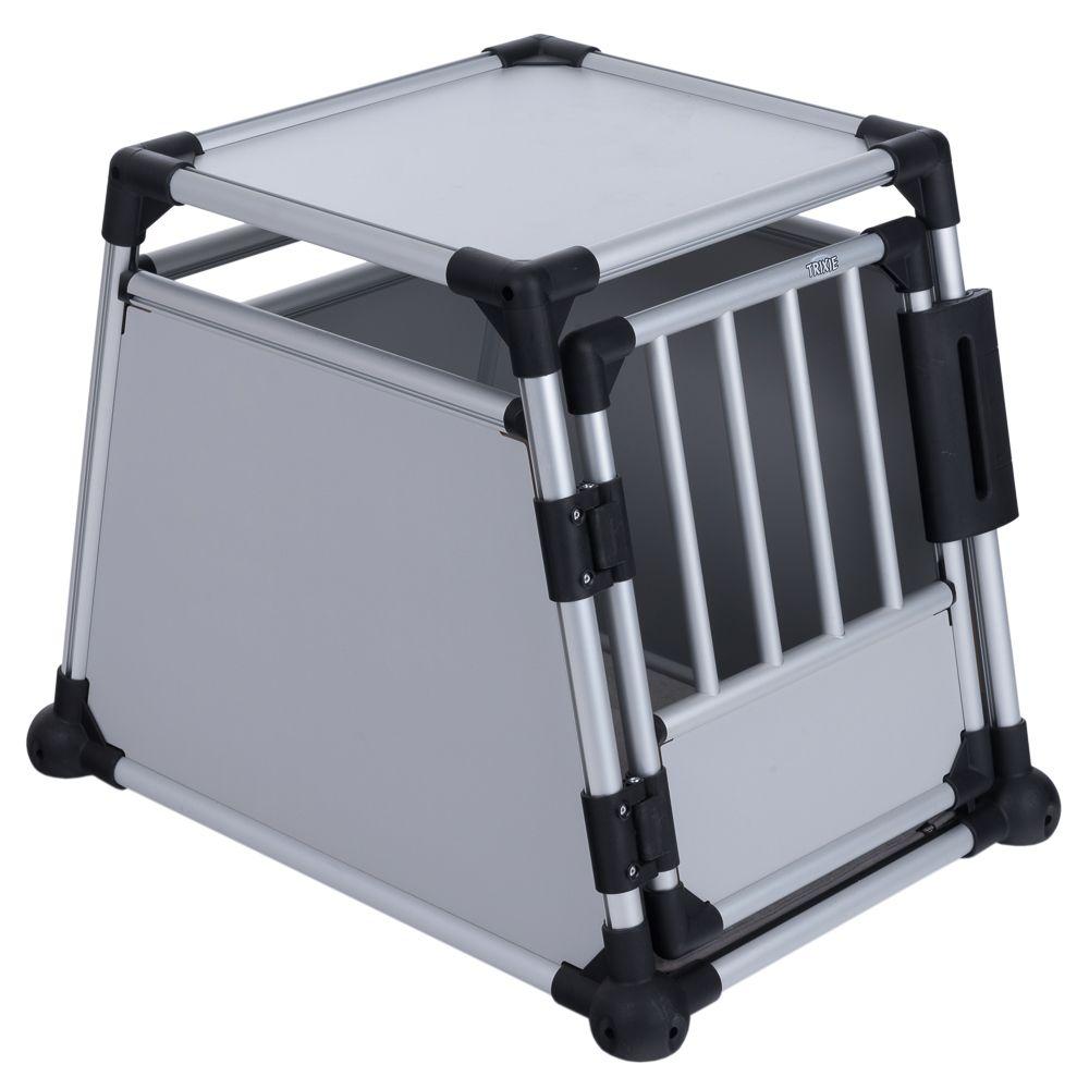 Trixie Transportbox Aluminium - Größe M-L: B 63 x T 90 x H 65 cm