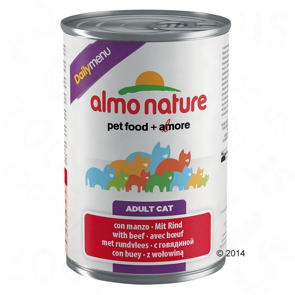 Almo Nature Daily Menu, 6 x 400 g - Wołowina