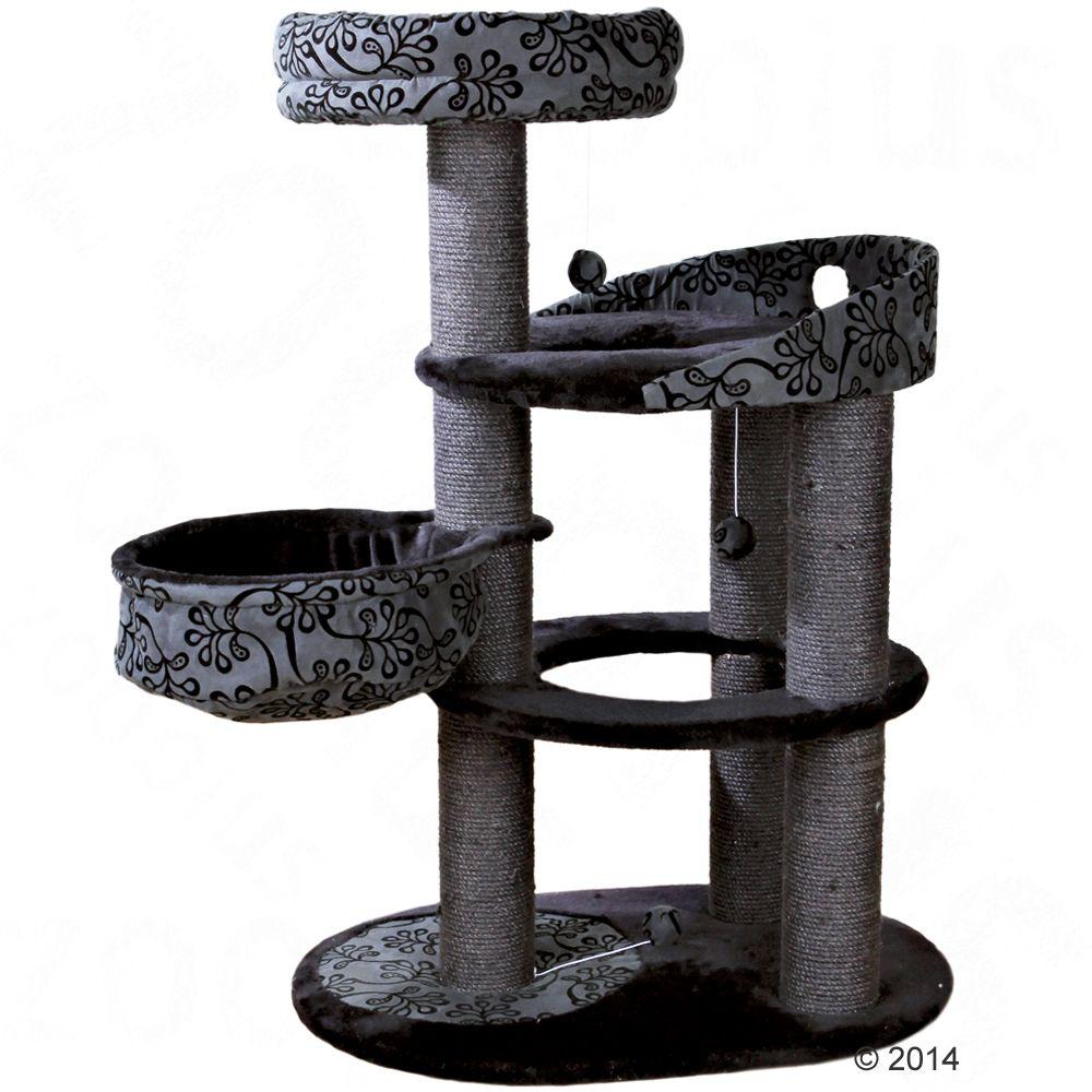 Kratzbaum Filippo für Katzen in schwarz mit 114 x L 77 x B 58 cm