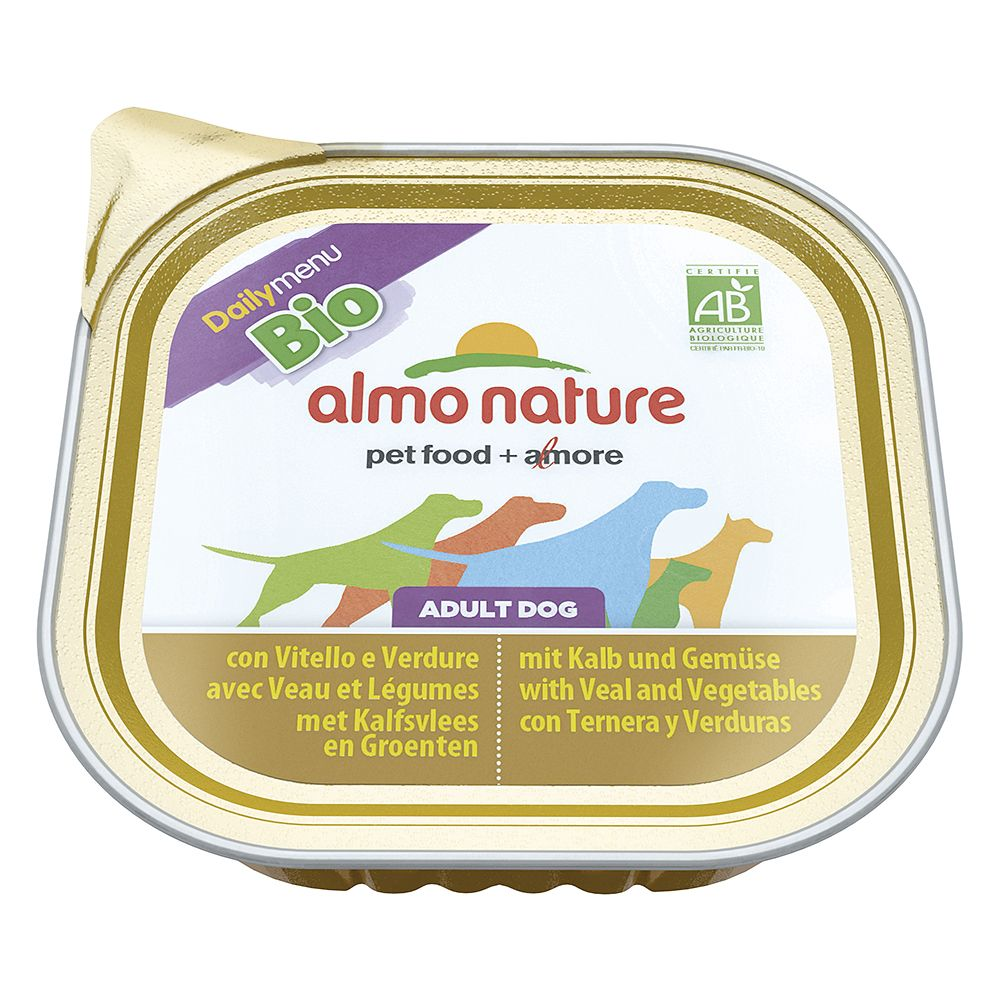 Almo Nature Daily Menu Bio Paté 9 x 300g - Veal