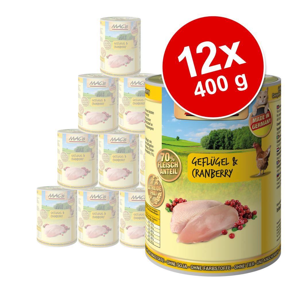 Ekonomipack: 12 x 400 g MAC's Cat kattfoder – Blandpack I