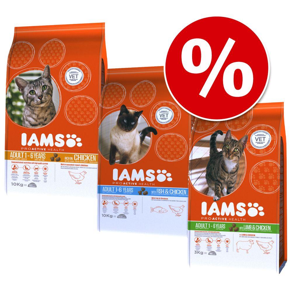 IAMS Samtpfote 3 x 3 kg im gemischten Paket - H...