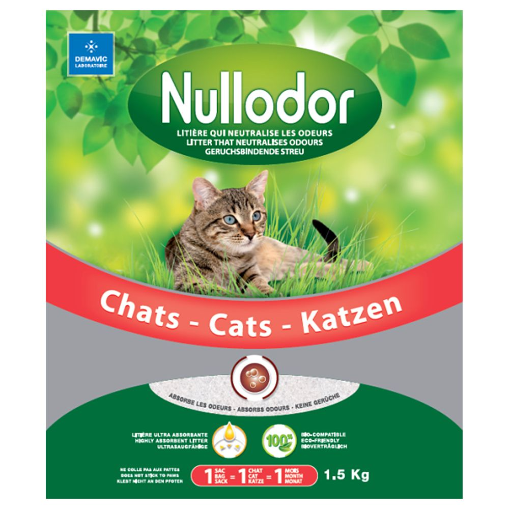 Nullodor Silica Litter Economy Packs 3 x 1.5kg - Cat Litter