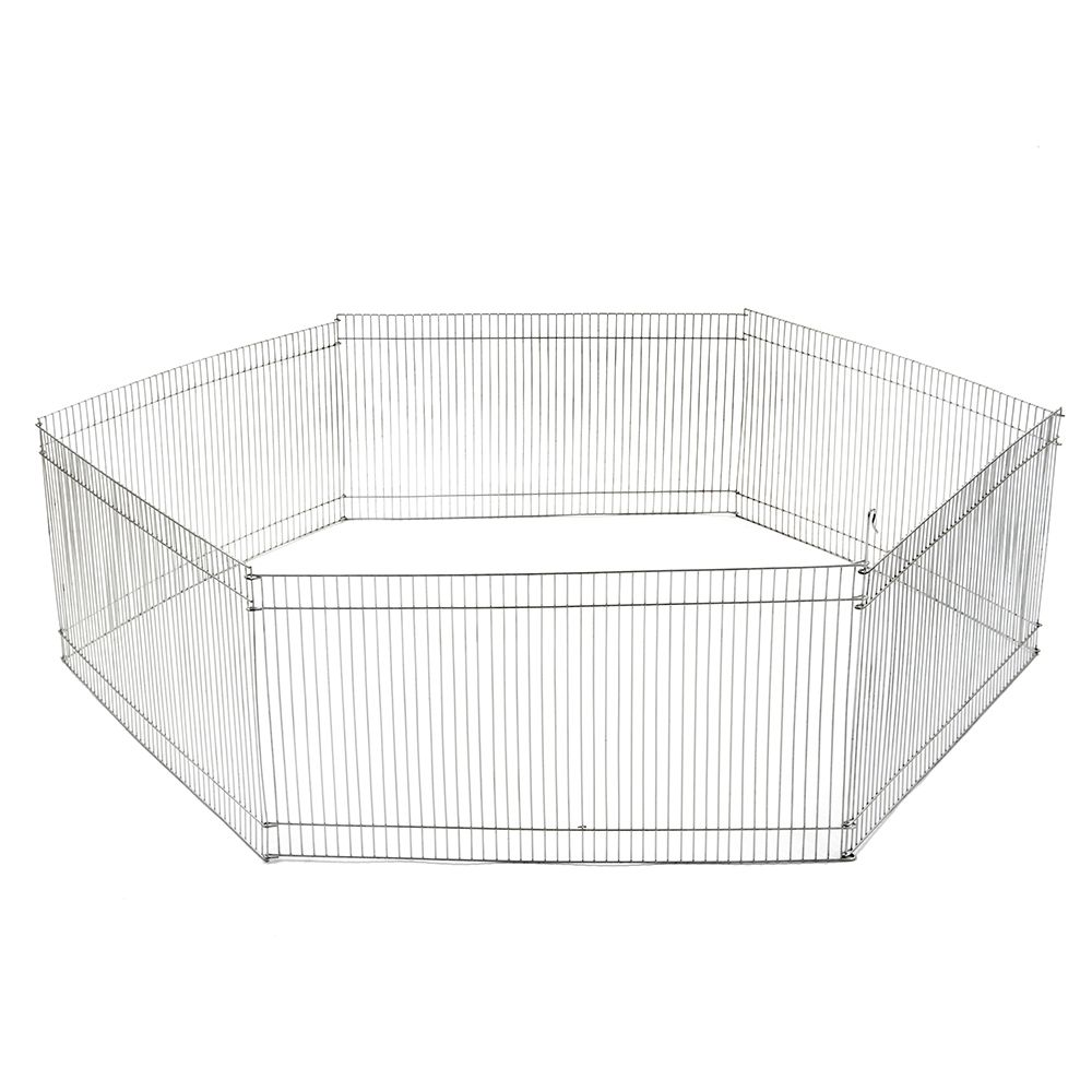 Metal Run for Small Pets - 6 Sections each 48 x 25 cm (W x H)