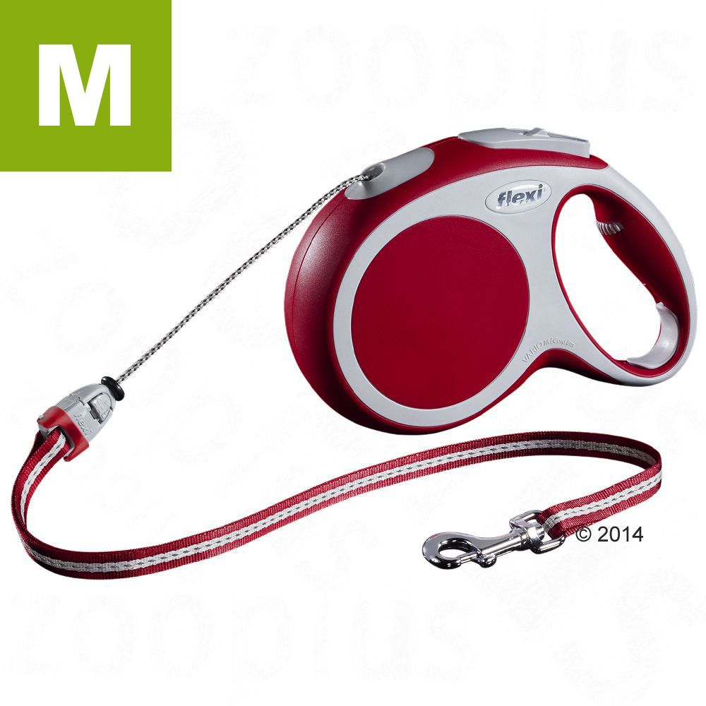 Vario Seil-Leine M rot, 8 m - LED Flash Gurt S/M