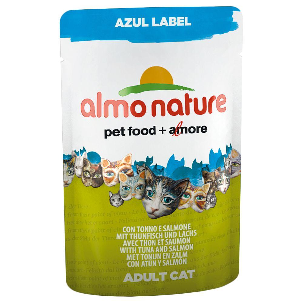 Almo Nature Azul Label 12 x 70 g pour chat - poulet, thon