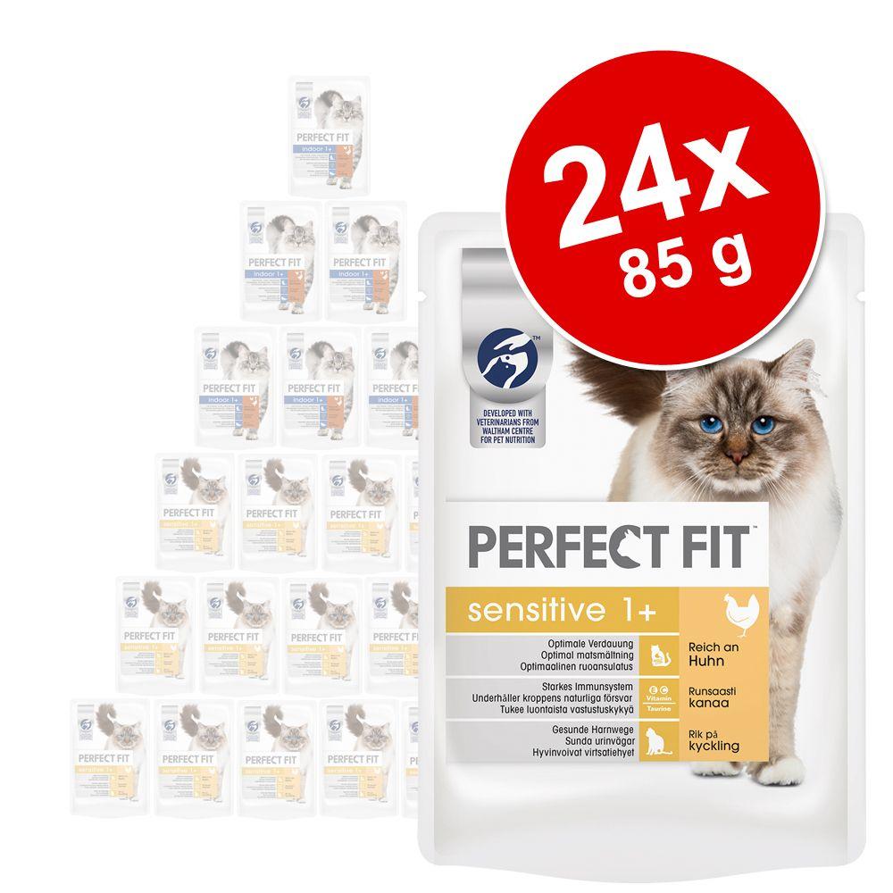 Korzystny pakiet Perfect Fit, 24 x 85 g - Junior, z kurczakiem