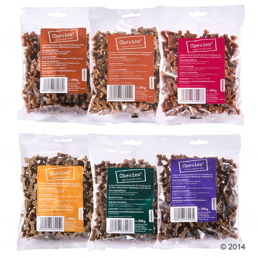 Chewies Mini Knöchelchen Multipack 6 Sorten - 6 x 125 g