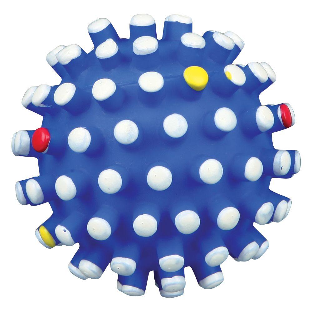Trixie Coloured Spiky Ball - Blue: Diameter 6.5cm