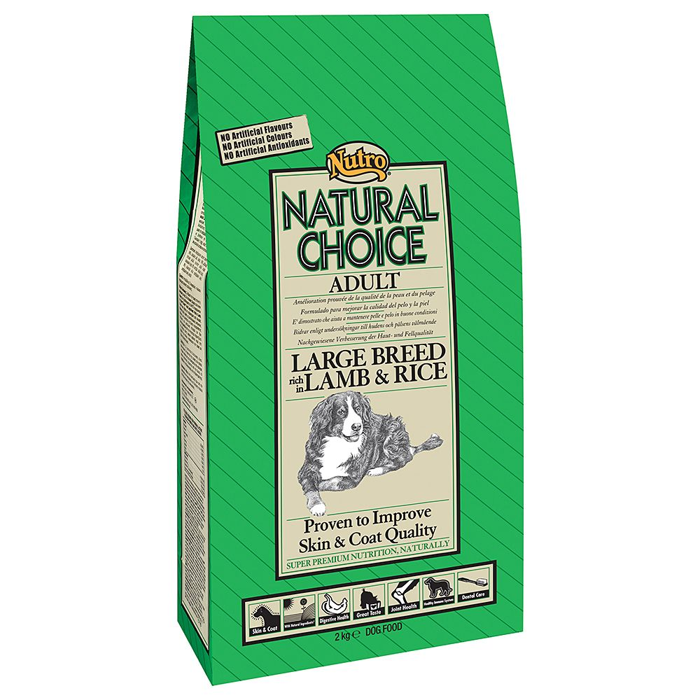 Nutro Natural Choice Adult Large Breed Lamb & Rice - Economy Pack: 2 x 12kg