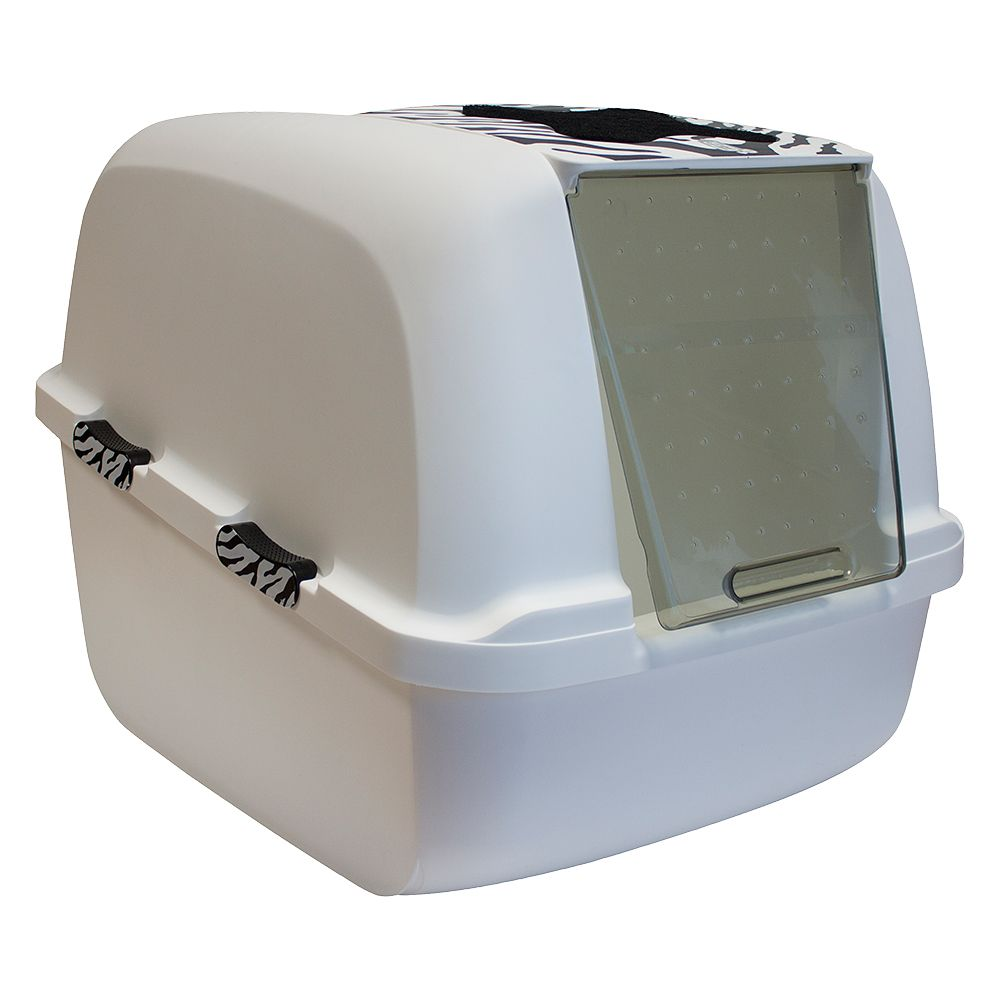 Catit Jumbo White Tiger Litter Box - White