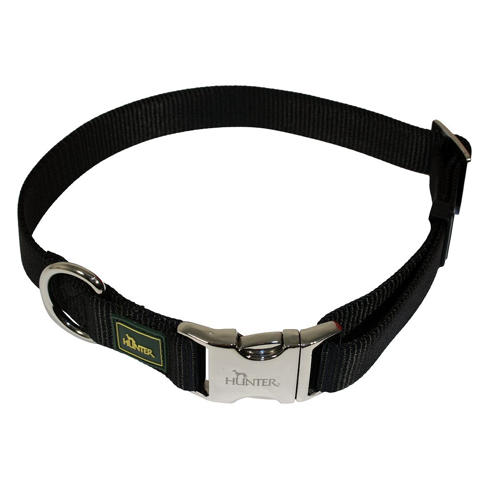 Hunter Vario Basic Alu-Strong Dog Collar - Black - Size L