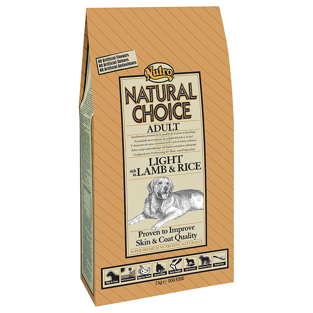 Nutro Choice Adult Light Lamm & Reis Hundefutter - Sparpaket 2 x 10 kg