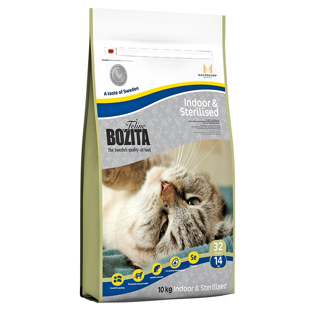 10kg Bozita Feline Indoor & Sterilised Dry Food - Special Price!* - 10kg