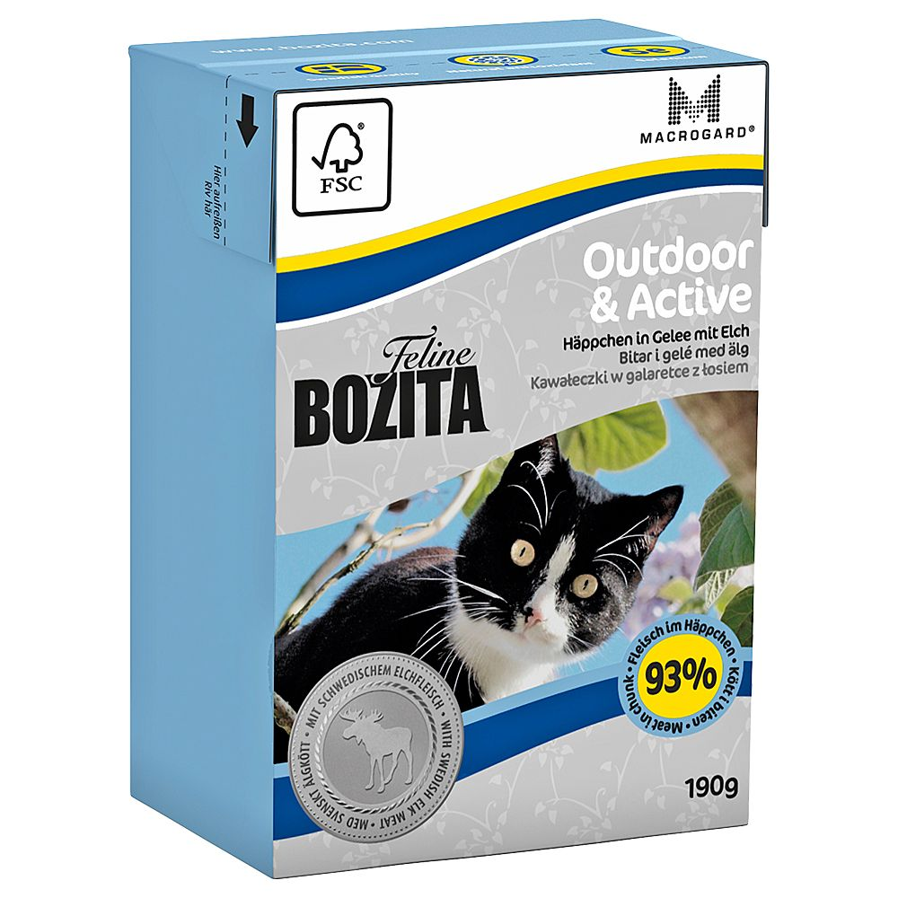 Bozita Feline Tetra Pak Package 6 x 190g - Outdoor & Active