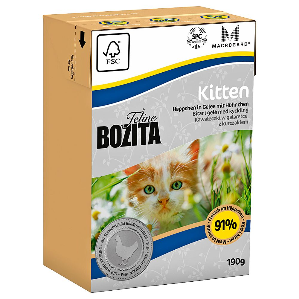 Kitten Tetra Pak Bozita Wet Cat Food