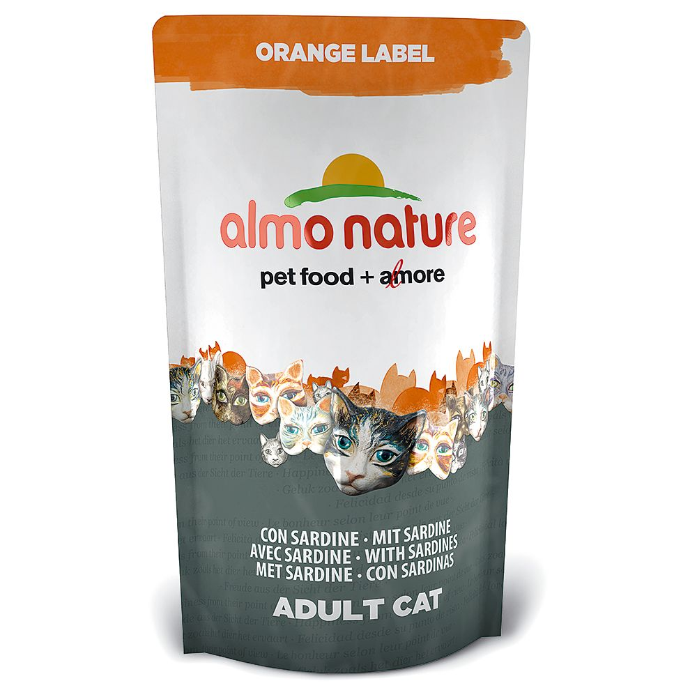 Almo Nature Orange Label Adult Sardine Dry Cat Food - 750g