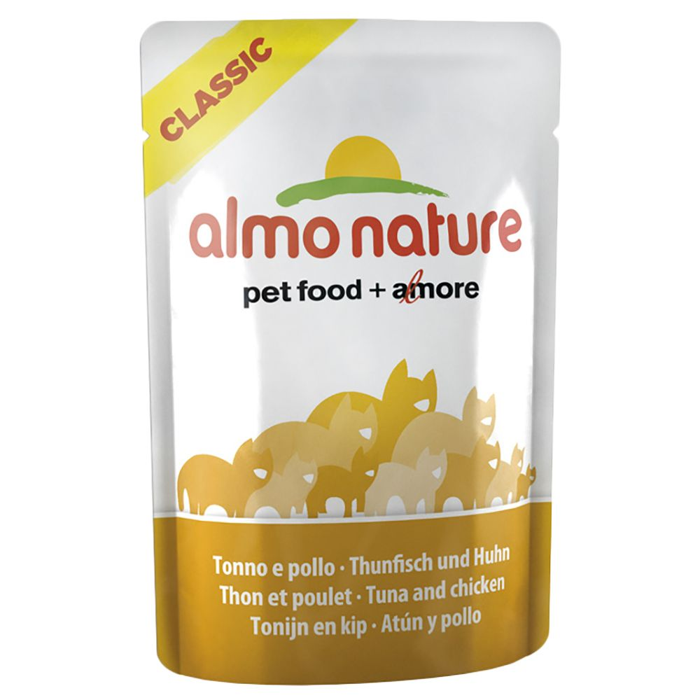 Almo Nature Azul Label in Pouches 12 x 70g - Chicken & Beef
