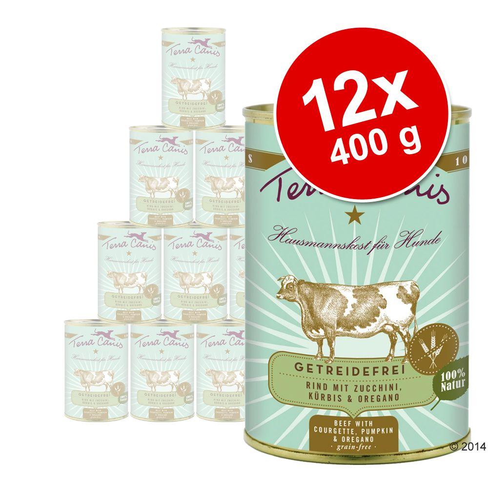 Terra Canis bez zbóż, 12 x 400 g - Wołowina z cukinią, dynią i oregano