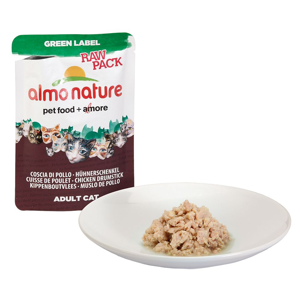 Almo Nature Green Label Raw Pack Saver Pack 24 x 55g - Chicken Breast