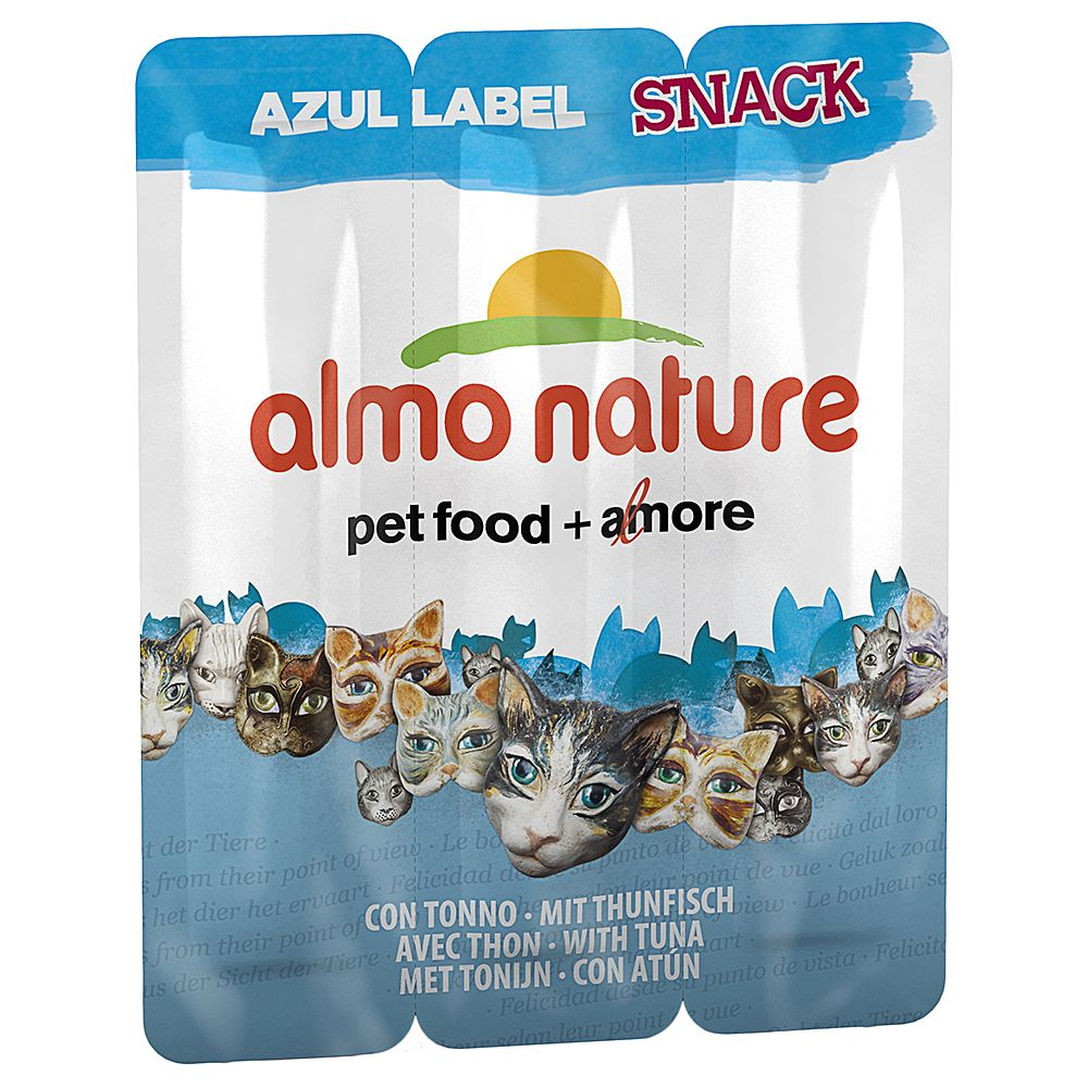 Ekonomipack: 18 x 5 g Almo Nature Azul Label Snack - Tonfisk (18 x 5 g)
