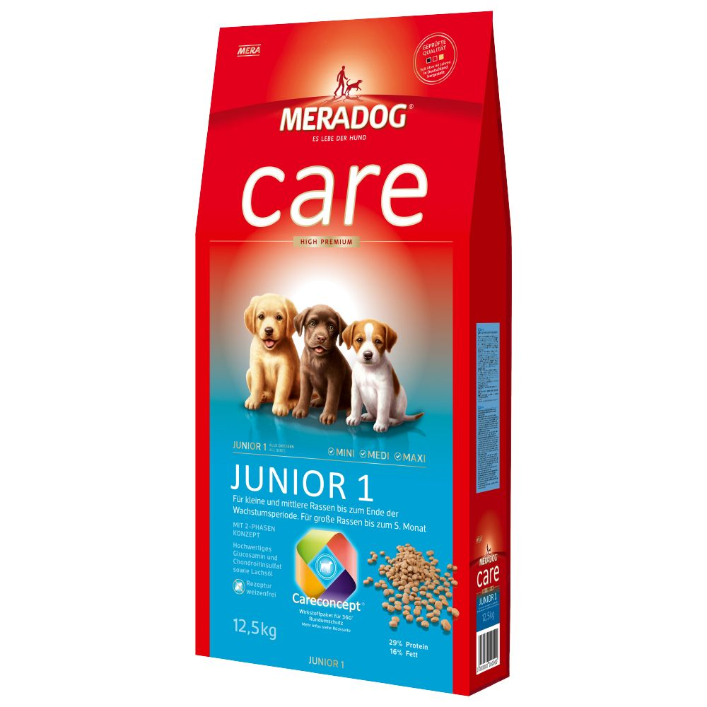 MeraDog Care High Premium Junior 1 - Economy Pack: 2 x 12.5kg