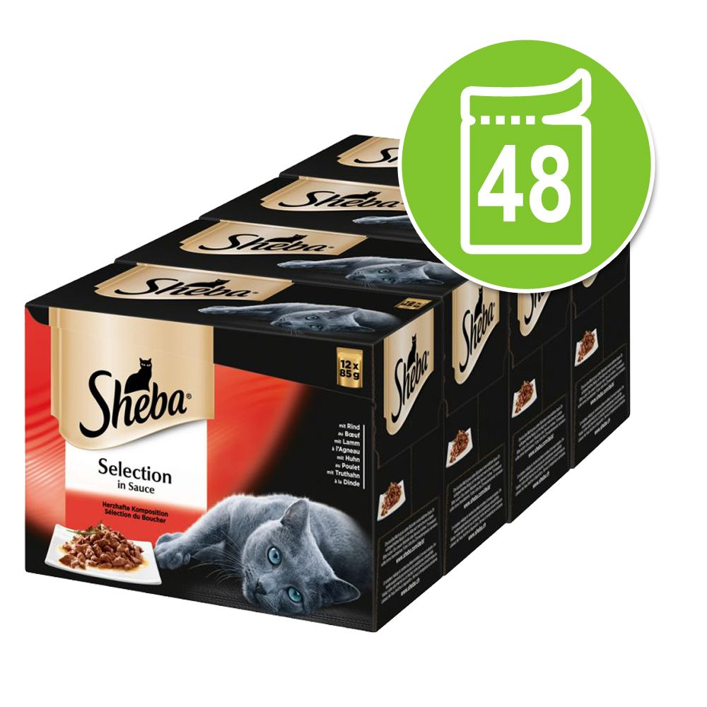 Sheba 48 x 85 g portionspåsar - Selection in Sauce Fin mångfald