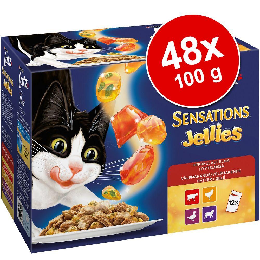 Ekonomipack: Latz Sensations Jellies 48 x 100 g - Fiskvariationer